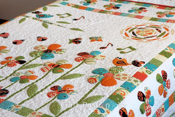 Secret Garden Trapunto Quilt Free Pattern by Joanne 2 1