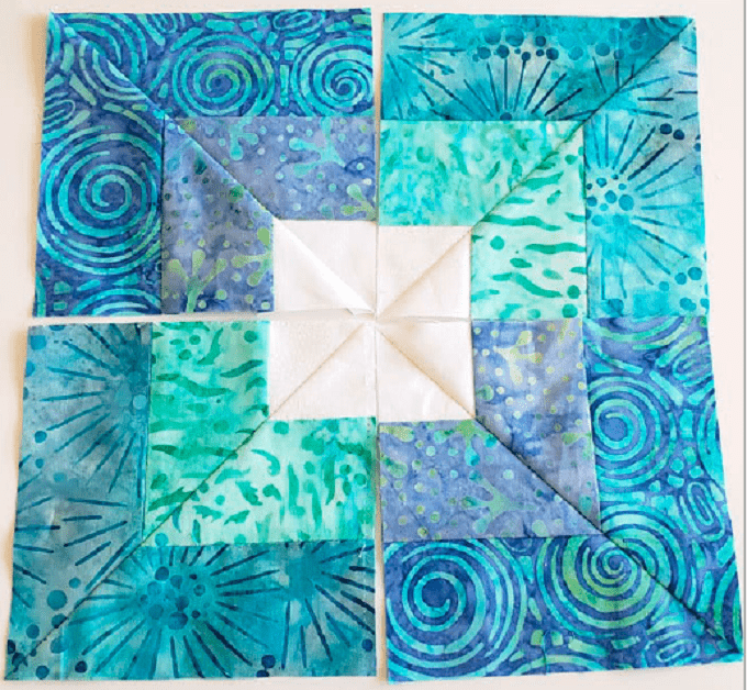 Square in square quilt block tutorial