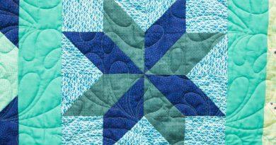 Star Flower Block Pattern
