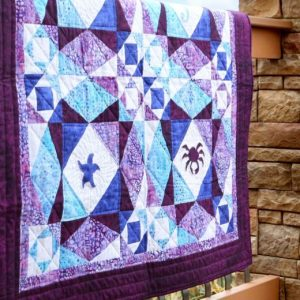 Wonderful Storm at Sea Life Medley Throw Quilt Pattern 2020