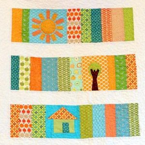 Perfect Sunshine Slice of Life Baby Quilt for 2020