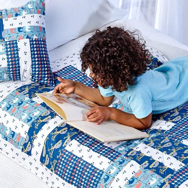 Trosko Sloth Kids Quilt & Cushion