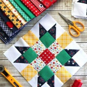 Meet the Makers Quilt Along block 01 with  Riley Blake Designs