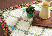 Flower Power quilt table