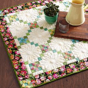 Christmas Flower Quilt Table Pattern Free 2020