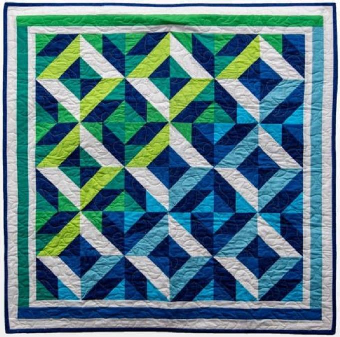 Ocean Waves Throw Quilt Pattern