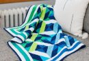 Ocean Waves Throw Quilt Pattern