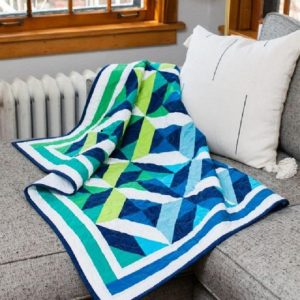 Ocean Waves Throw Quilt Pattern Free for 2021