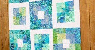 Square in square quilt block Pattern