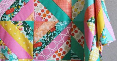 Diagonal Strip Quilt Tutorial by Allison Harris