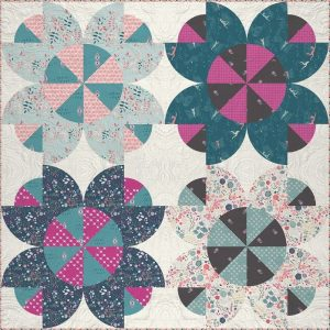 Flower Crown Quilt Pattern free by Sharon McConnell