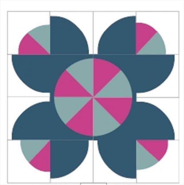 Flower Crown Quilt Pattern by Sharon McConnell